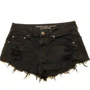 American Eagle Black Denim Shorts